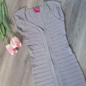 🆕 Light Grey Ribbed Bodycon Dress